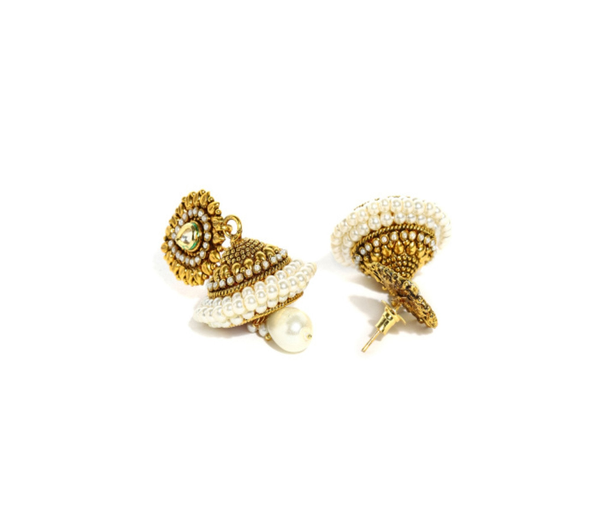 Fida Elegant Gold Jhumki Earrings