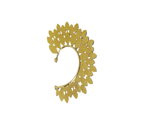 Fida Pretty Gold Feather Ear Cuff