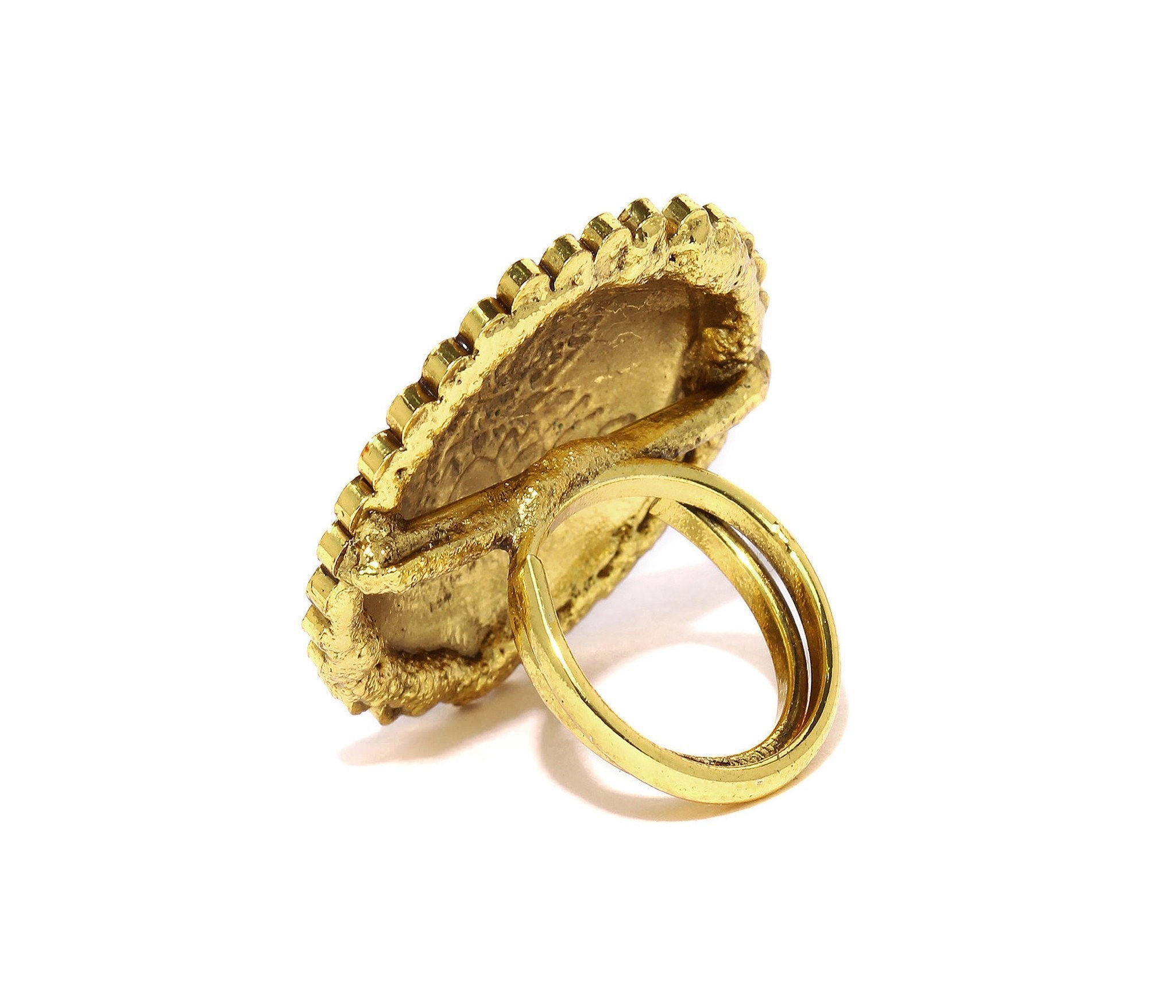 Fida Gold Ashtalakshmi Statement Ring