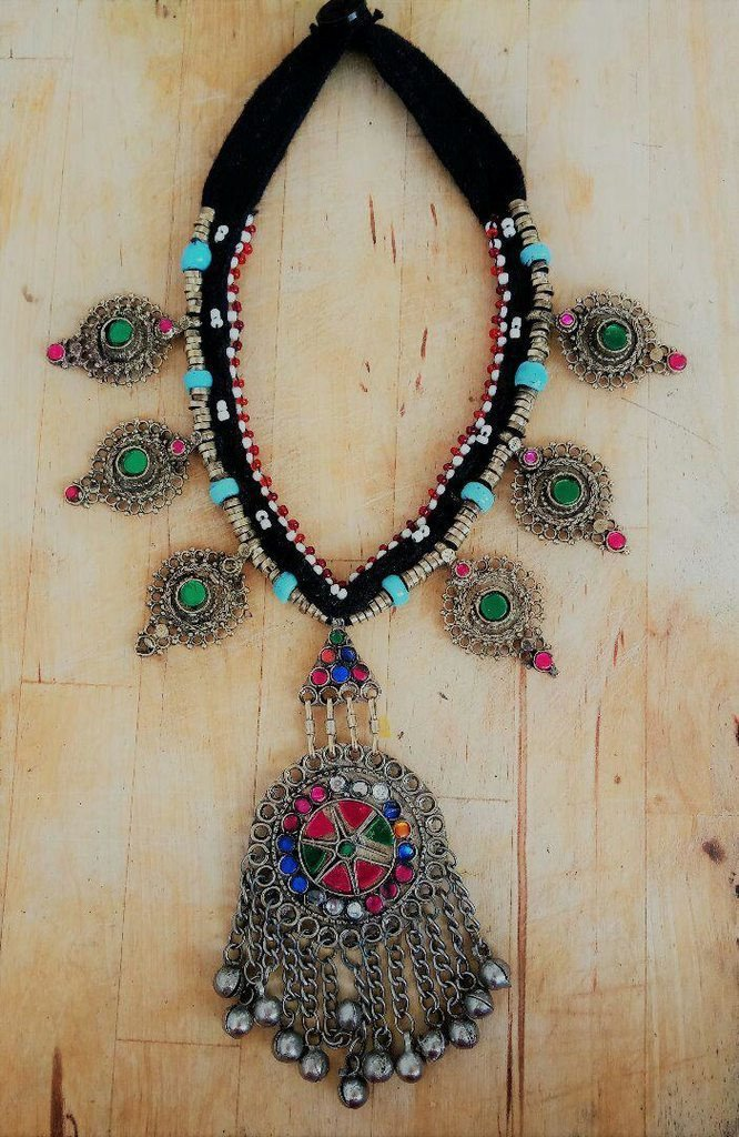 Afghani Trible Multicolor Necklace With Beads