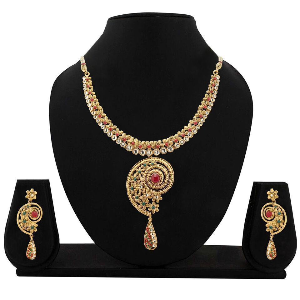 Zaveri Pearls Traditional Necklace Set