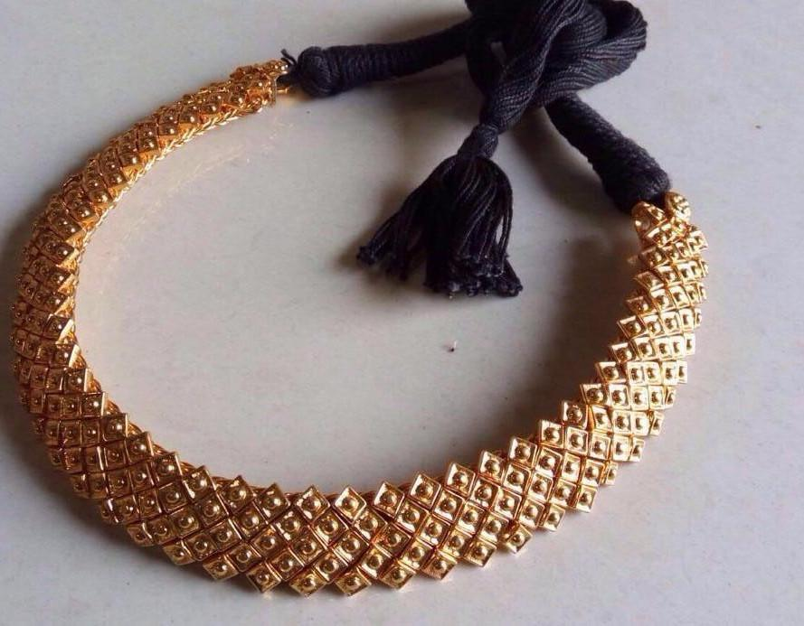 Gold Plated German Silver Choker Necklace