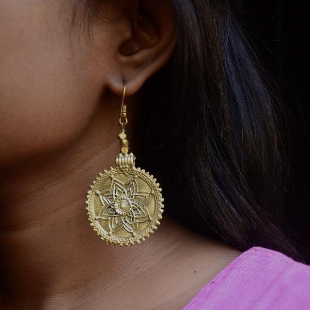 Dhokra Earring Bloom