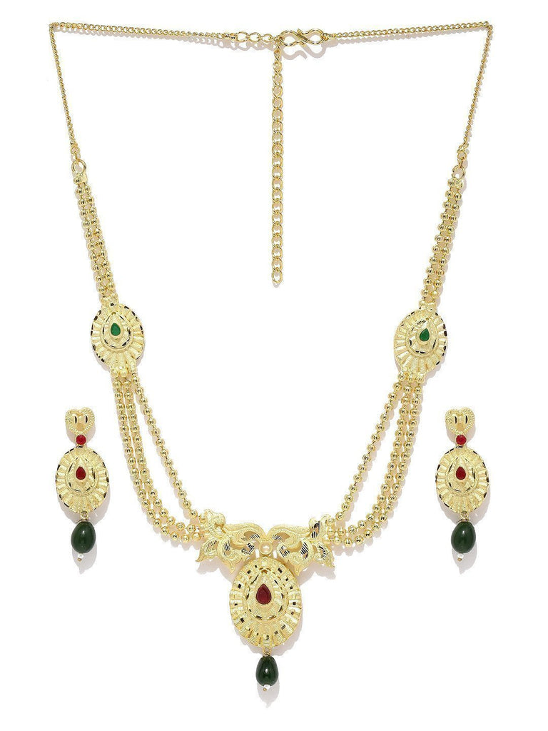 Innovative Gold Toned Necklace Set - Zpfk5724