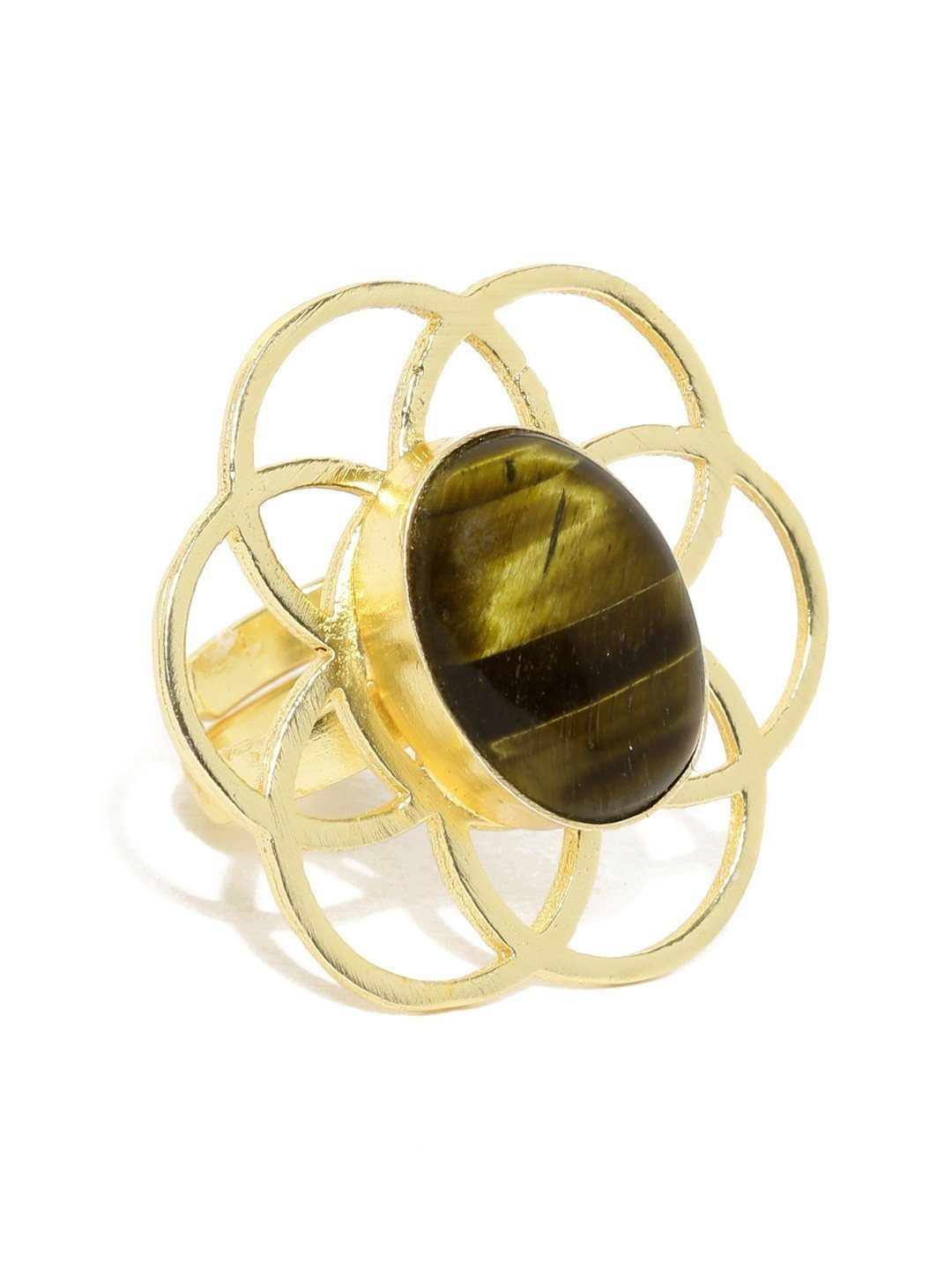 Semi Precious Tigher-Iron Splendid Finger Ring - Zpfk5770