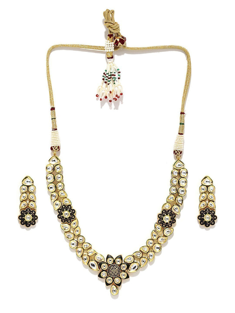 Royal Look Designer Kundan Necklace Set - Zpfk5849