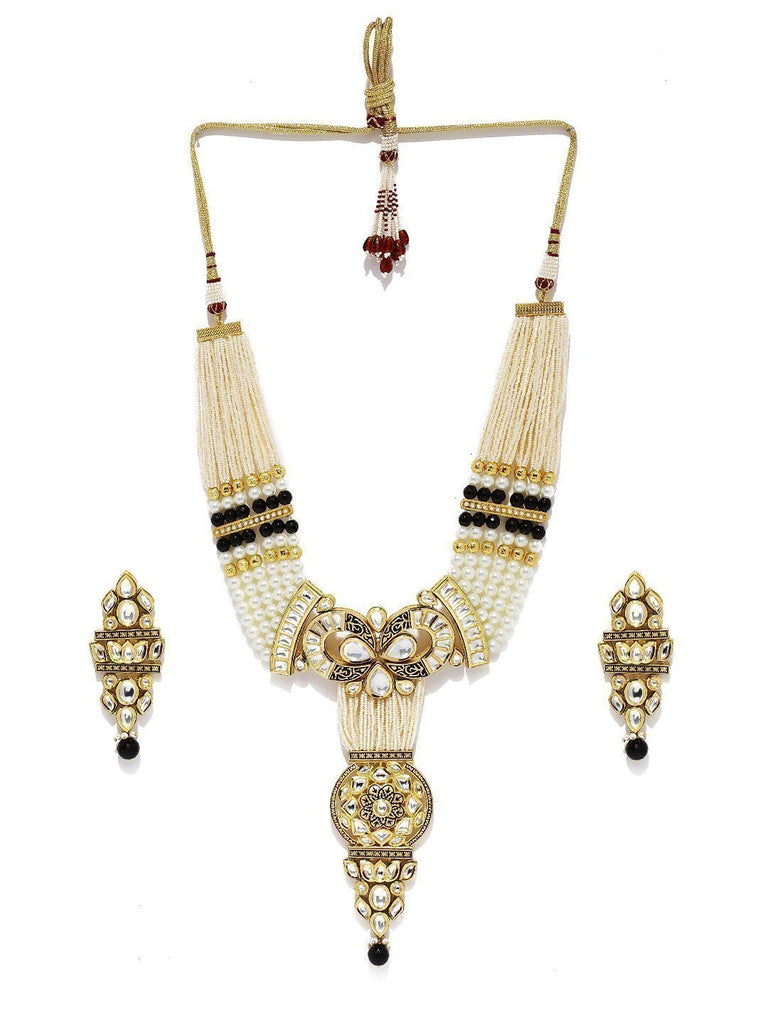 Royal Look Long Designer Kundan Necklace Set - Zpfk5862