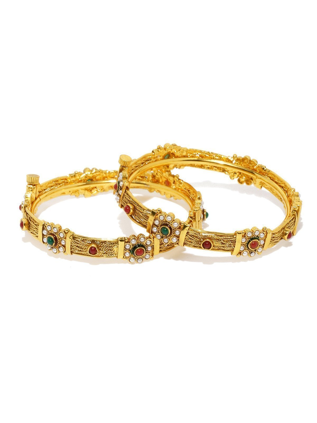 Set Of 2 Ethnic Openable Bangles