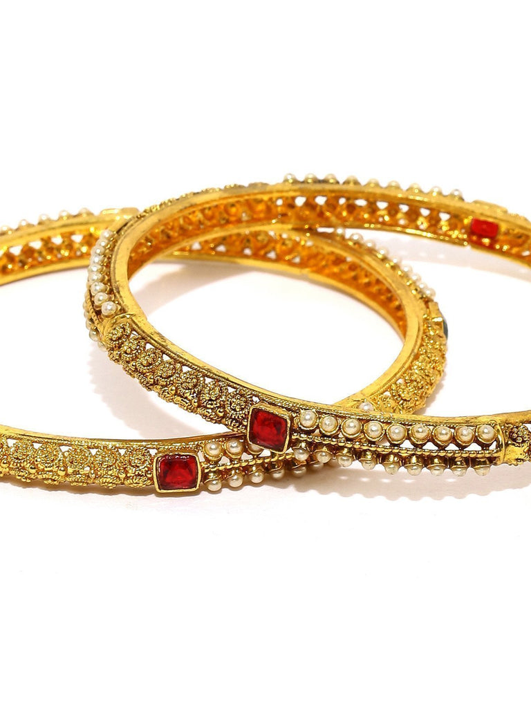 Set Of 2 Ethnic Designer Bangles