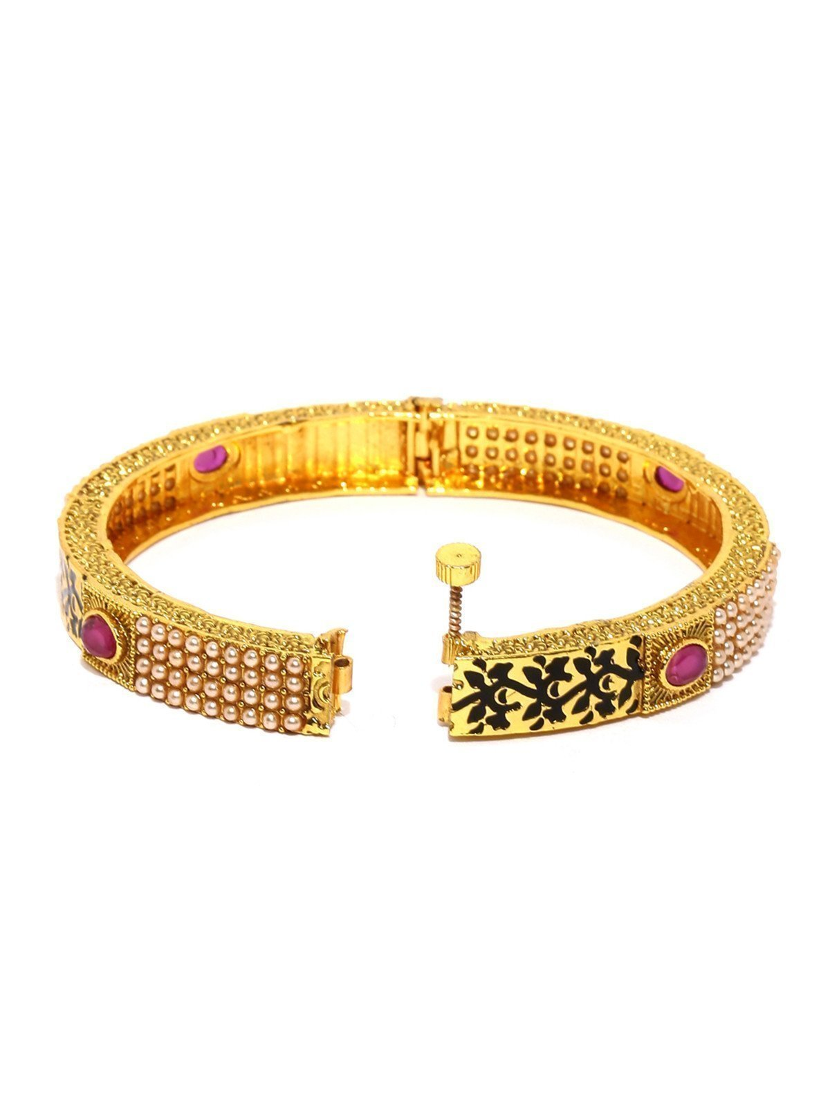 Set Of 2 Enamelling Traditional Openable Bangles