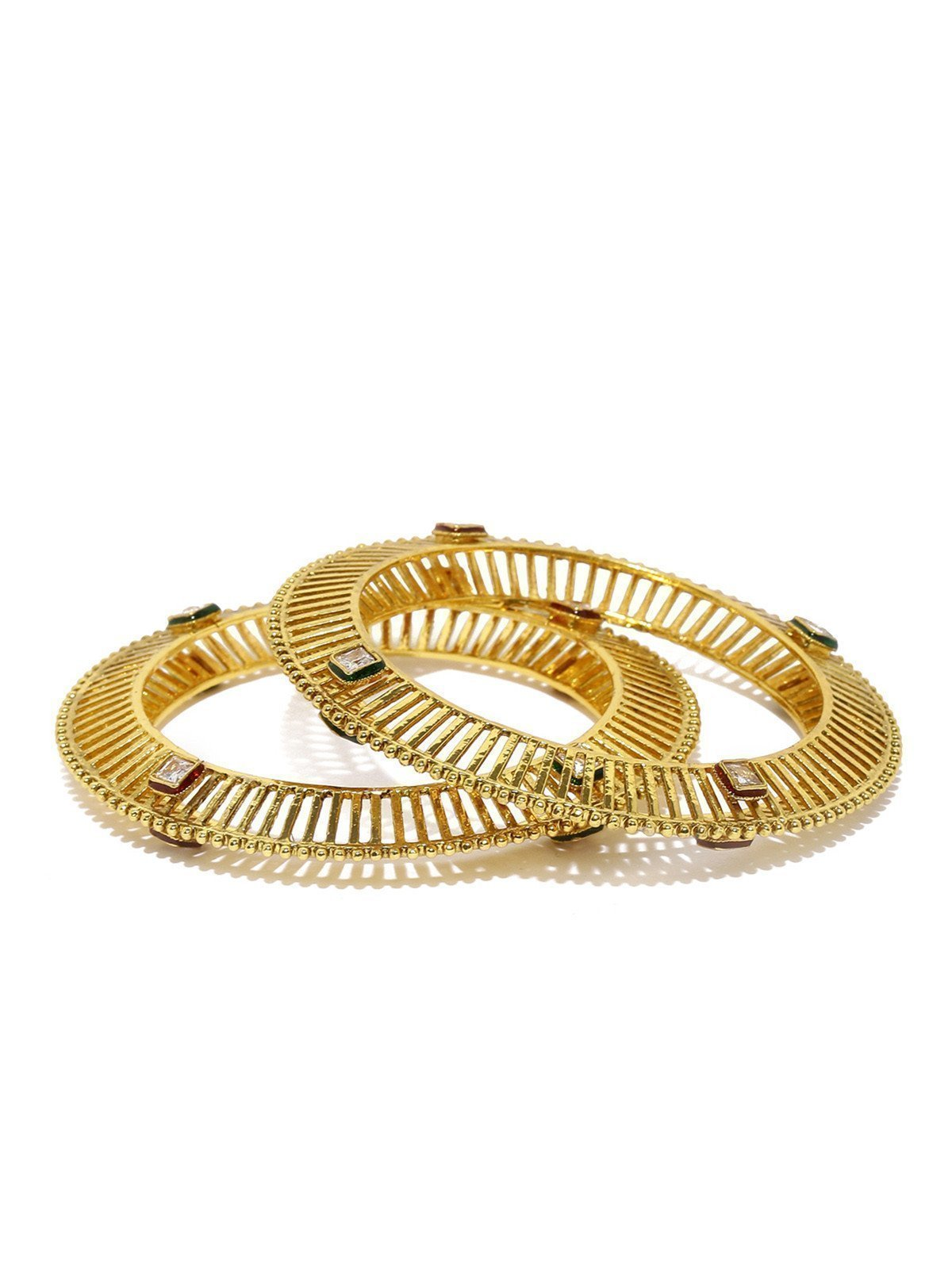 Set Of 2 Ethnic Kundan Bangles