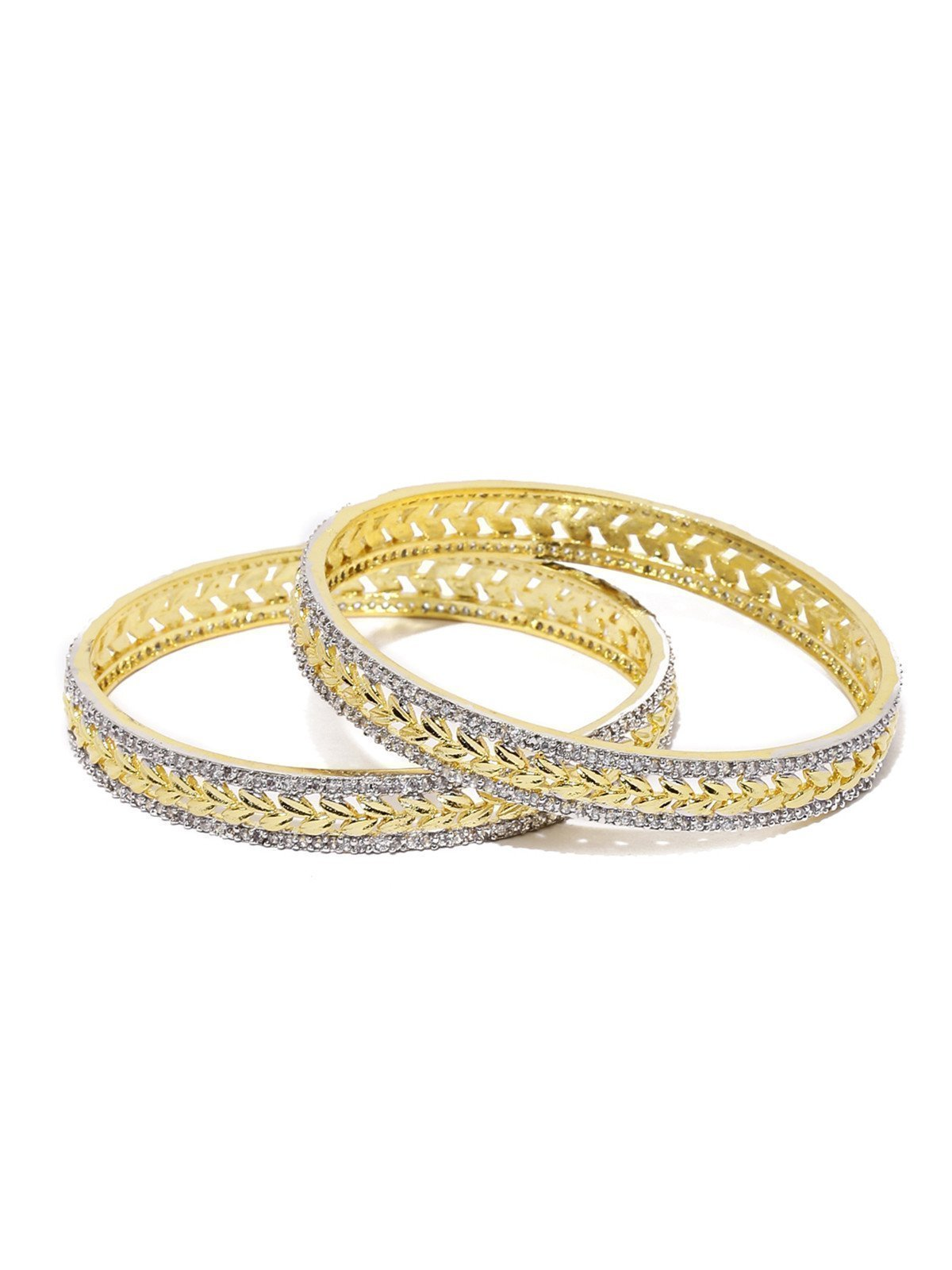 Set Of 2 Sparkling Cubic Zirconia Bangles