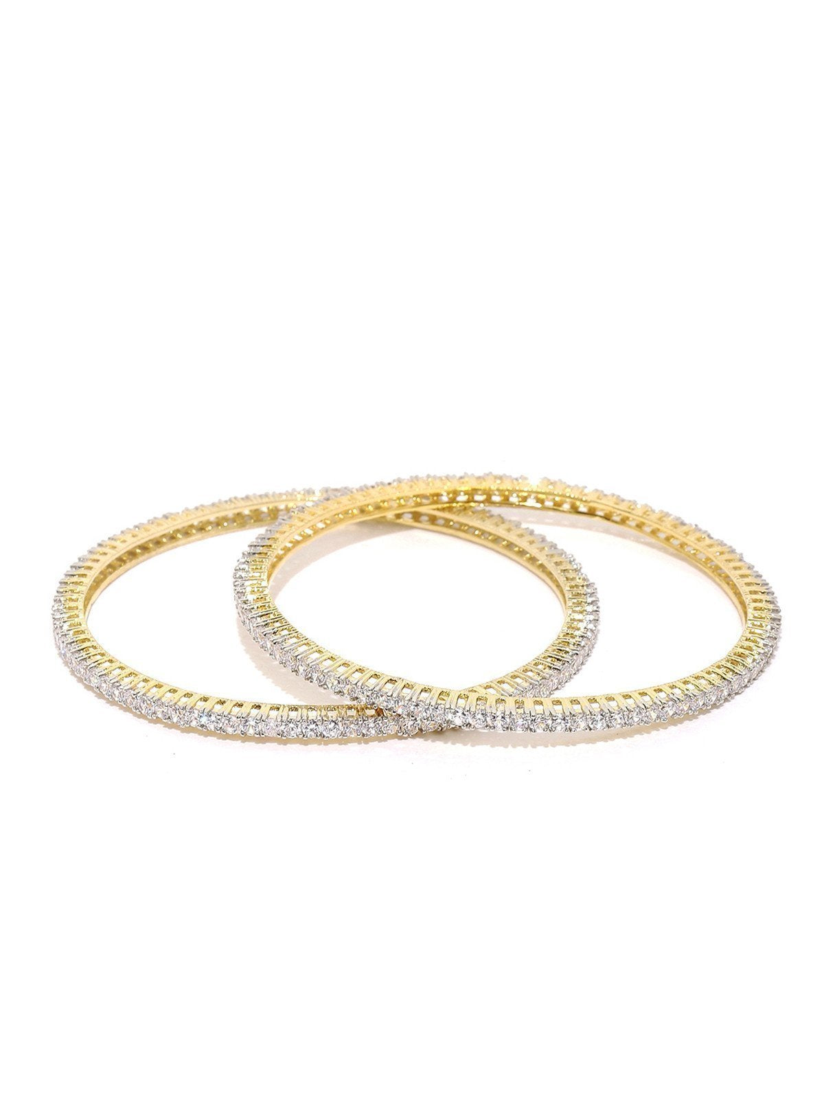Set Of 2 Delicate Cubic Zirconia Bangles
