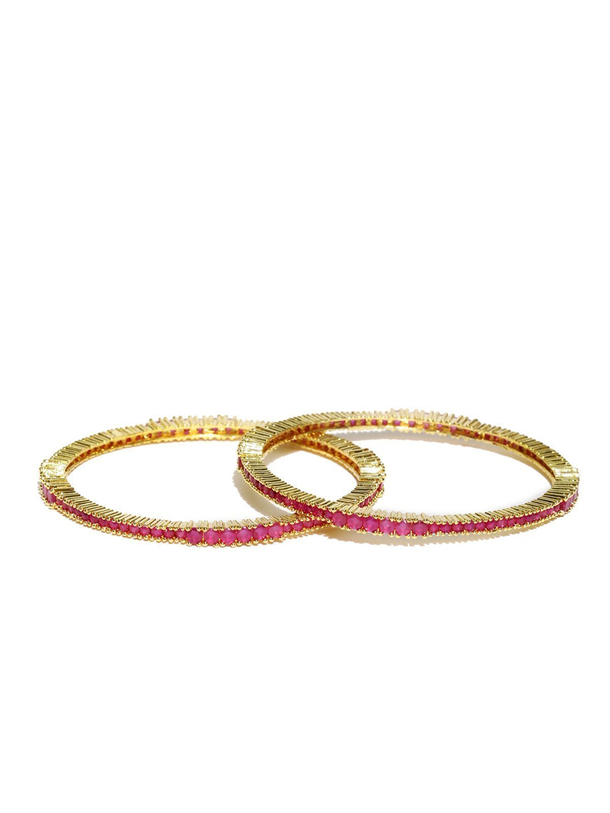 Set Of 2 Splendid Cubic Zirconia Bangles