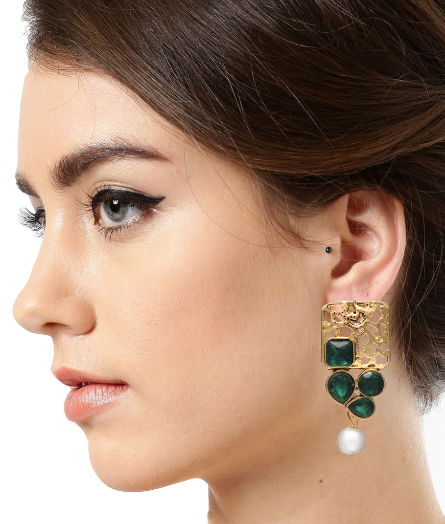 Combo Of 4 Ethnic Earrings - Zpfk6028