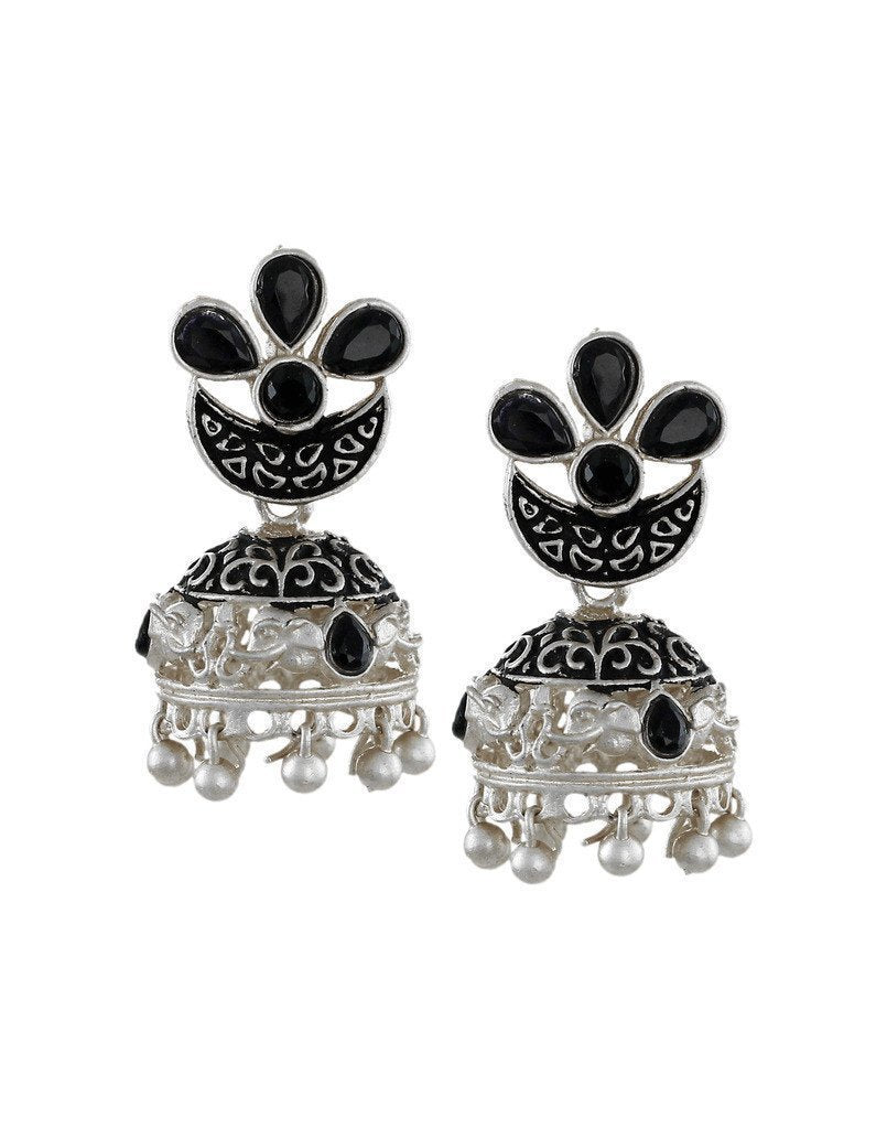 Dark Antique Jhumki Earring - Zpfk6059