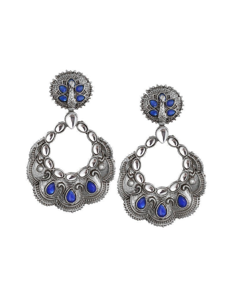 Peacock Inspired Dangle Earring - Zpfk6062