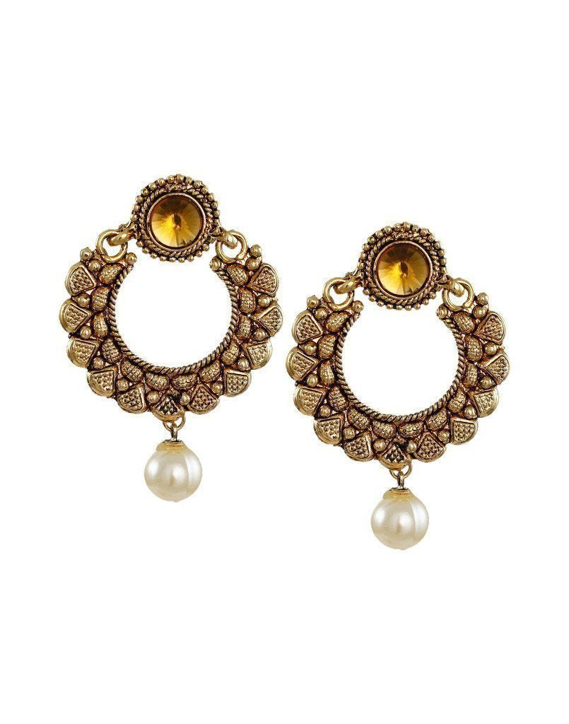 Ethnic Chandbali Earring - Zpfk6090