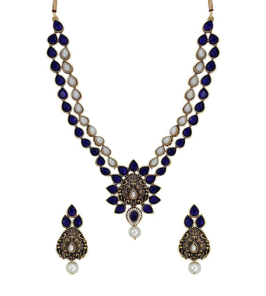 Dark Antique Ethnic Necklace Set - Zpfk6127