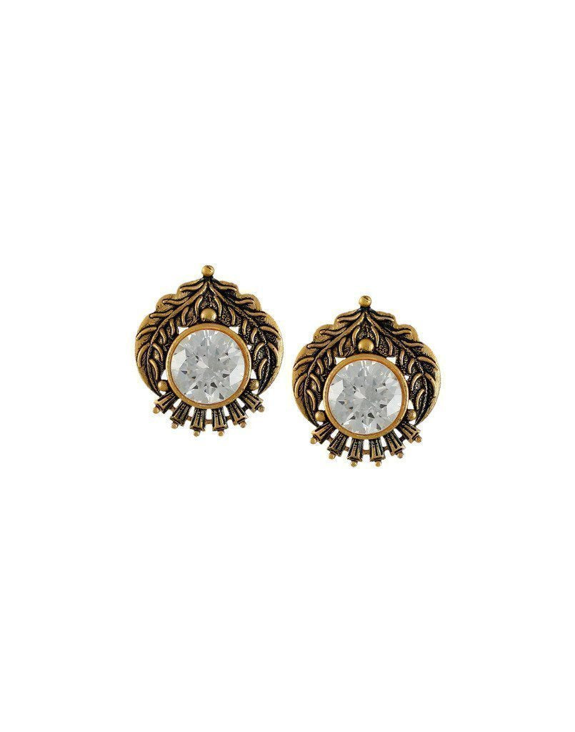 Dark Antique Stud Earring - Zpfk6169