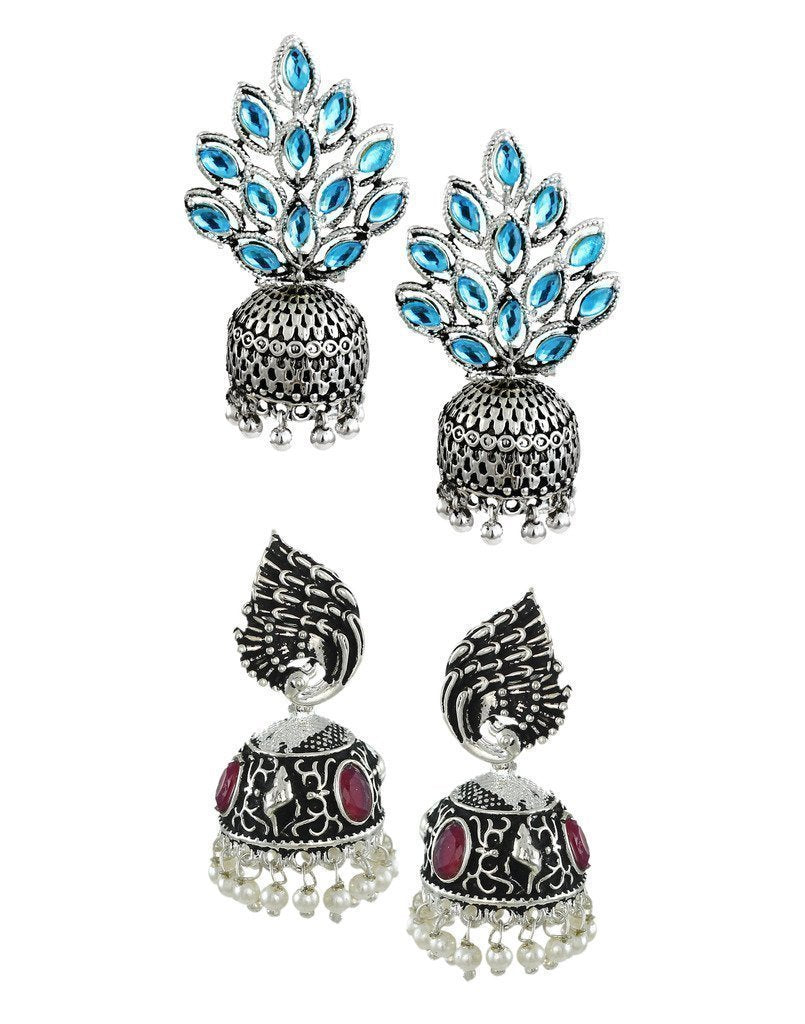 Zaveri Pearls Set of 2 Combo Ethnic Earring