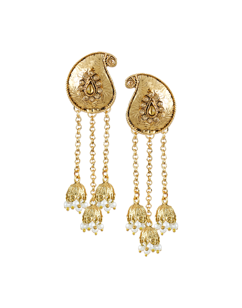 Zaveri Pearls Beautiful Trendy?Beaded Jhumki?Drop Earring