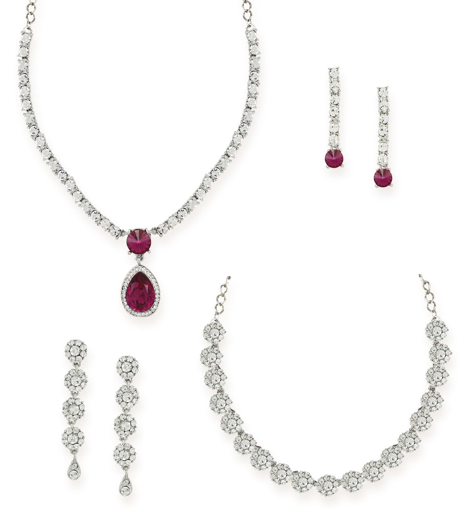 Zaveri Pearls Combo of 2 Mesmerising Austrian Diamond Necklace Set