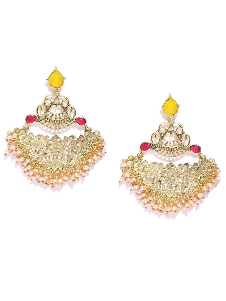 Zaveri Pearls Graceful Gold Tone Ethnic Dangle Earring