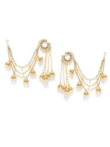 Zaveri Pearls Bollywood Inspired Baahubali Gold Tone Jhumki Drop Earring