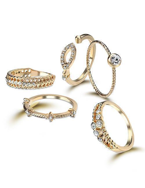 Gold Divine Ring Set