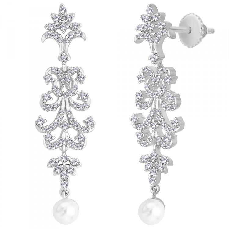 Long Drop Designer Earrings For Wedding Wear