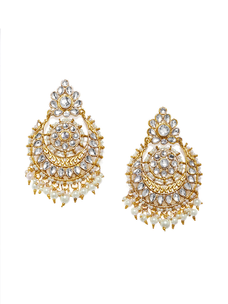 Zaveri Pearls Traditional Gold Plated Dangle Earring