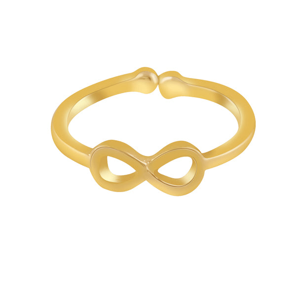Infinity Yellow Gold Toe Ring