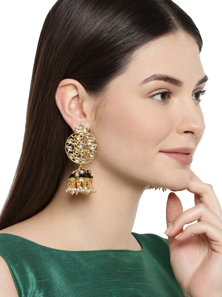 Zaveri Pearls Kundan Gold Plated Jhumki Earring