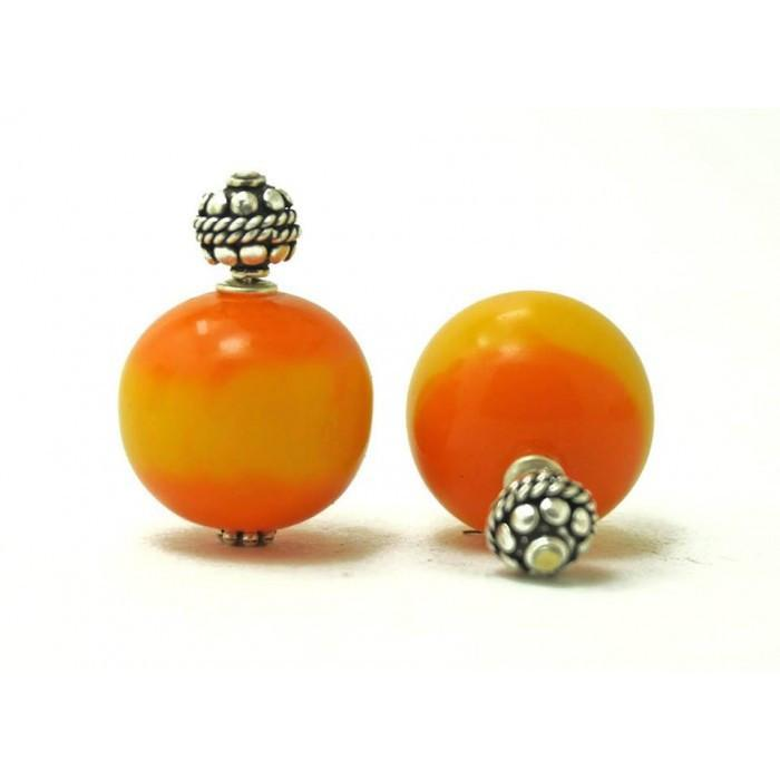 Orange Yellow Bela Studs Earring
