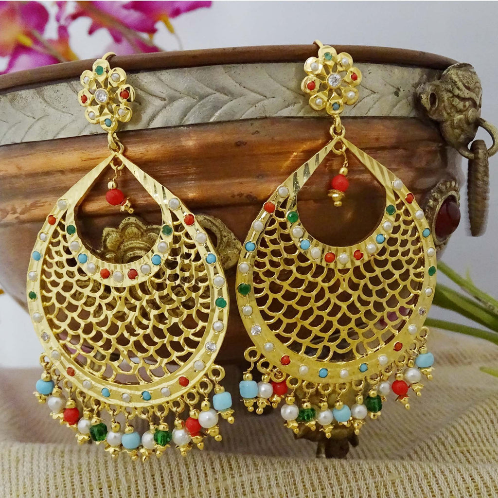 Mughal Style Jadau Dangle Earring
