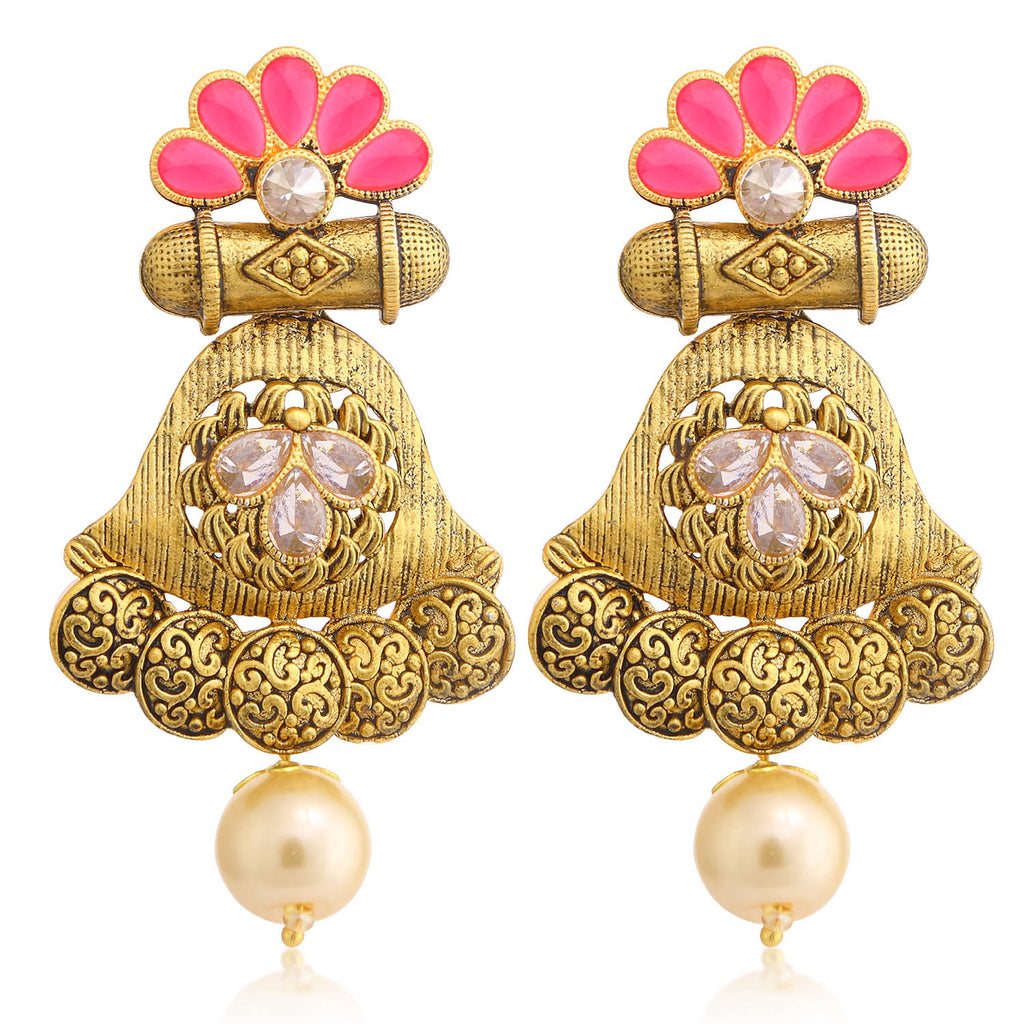 Sukkhi Exclusive Gold Plated Pearl Chandelier Earring For Women-SUKKHI1-Earring
