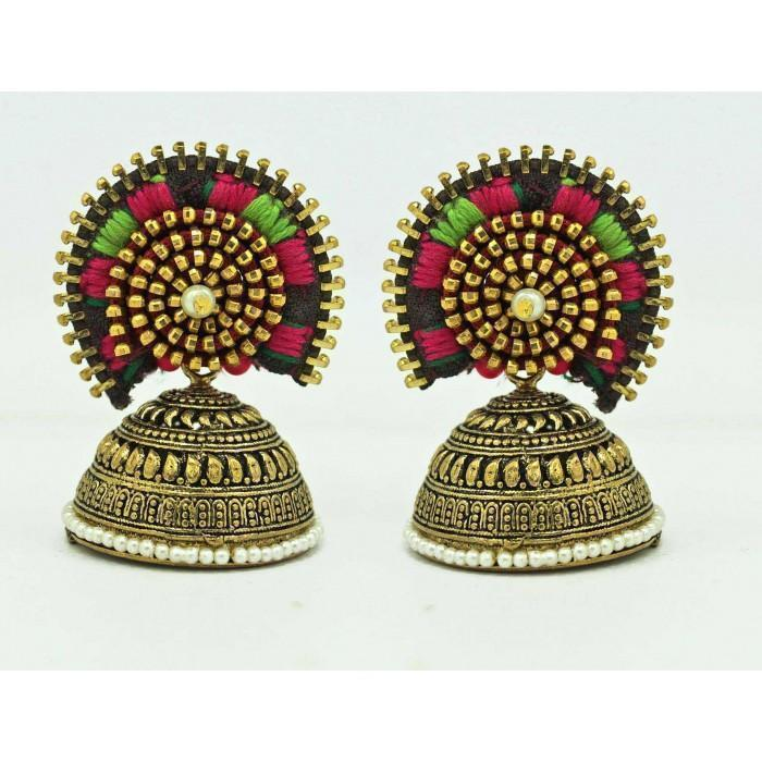 Anetra Designer Jodha Earring - Ethnic Colorful