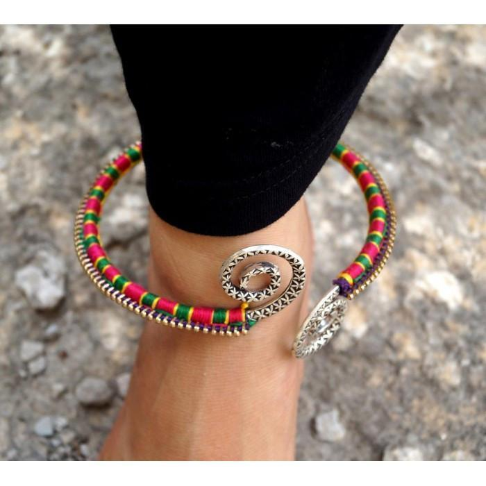 Zip Your Feet Tribal Anklet