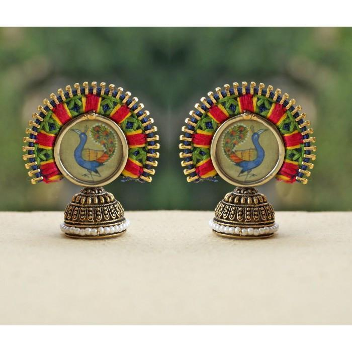 Artistic Peacock Studs