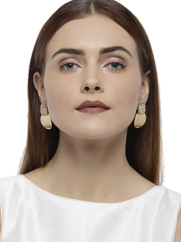 Combo Of 4 Rose Gold Fashion Forward Earrings