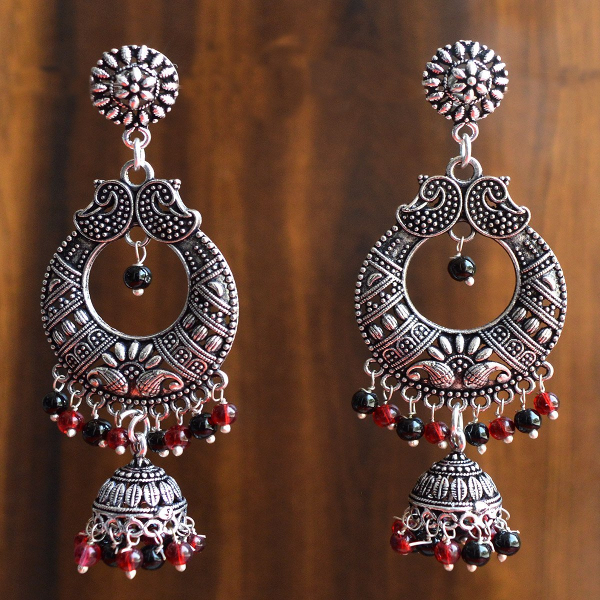 Oxidised German Silver Antique Dangler Earring