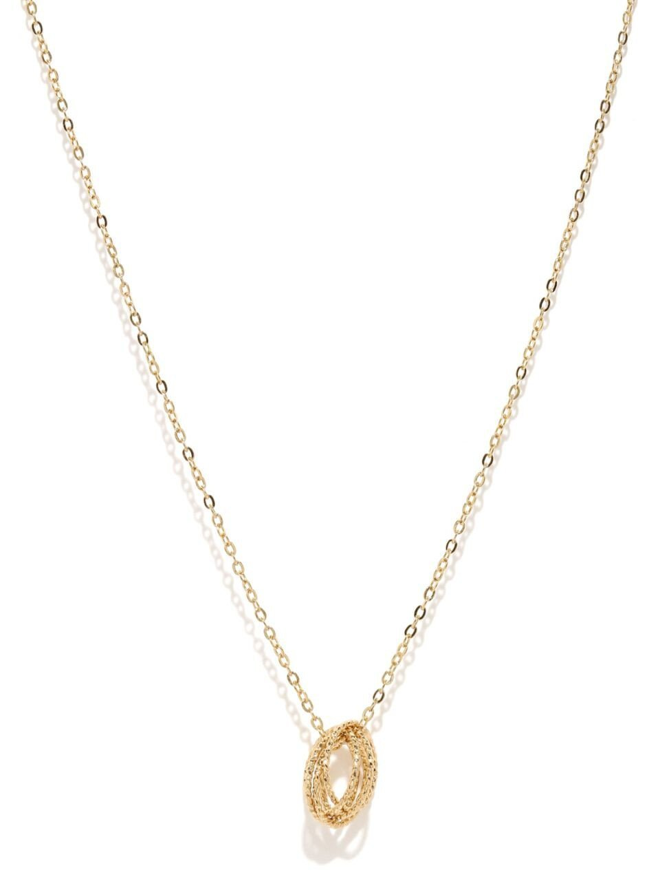 Gold Knot Charm Necklace