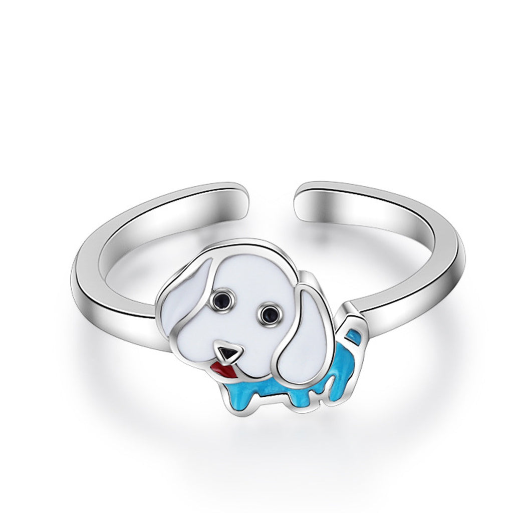 Sukkhi Shimmering Doggy Design Australian Diamond Rhodium Plated Ring for Women-SUKKHI-Finger Ring