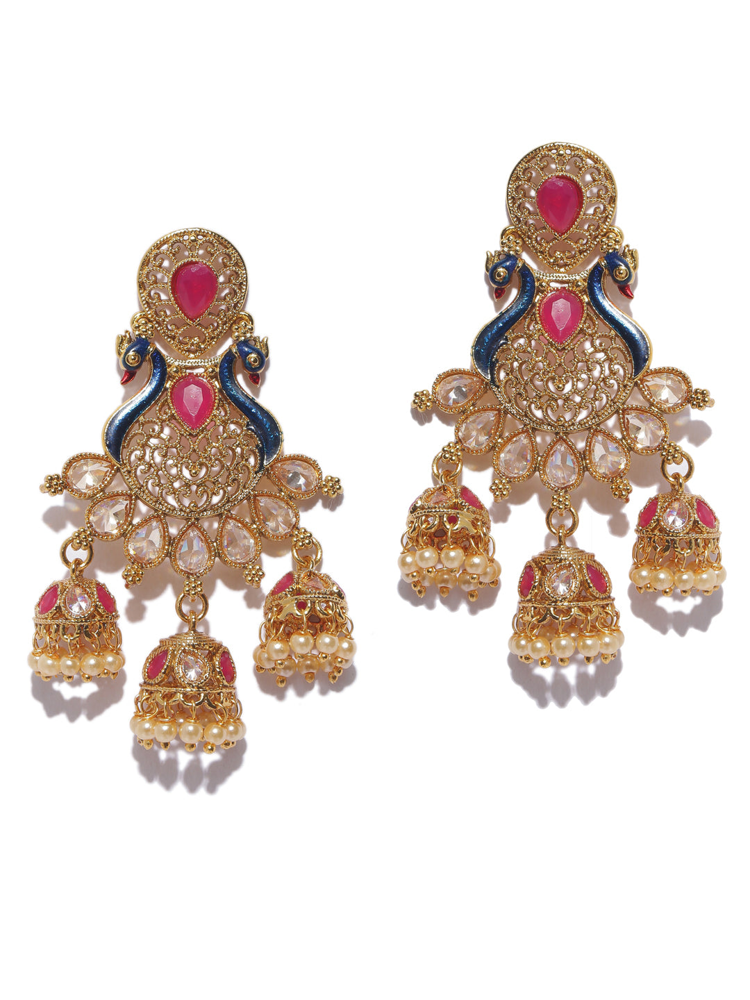 High quality Contemporary Peacock Design Dangler Earring-ARADHYAA JEWEL ARTS1-Earring