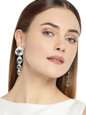 Combo Of 2 Zaveri Pearls Antique Silver Tone Contemporary Dangle Earring