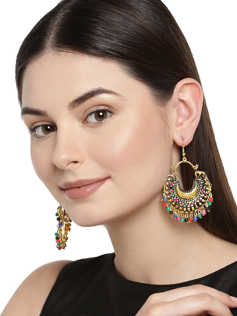 Zaveri Pearls Multi Color Dangle Earring