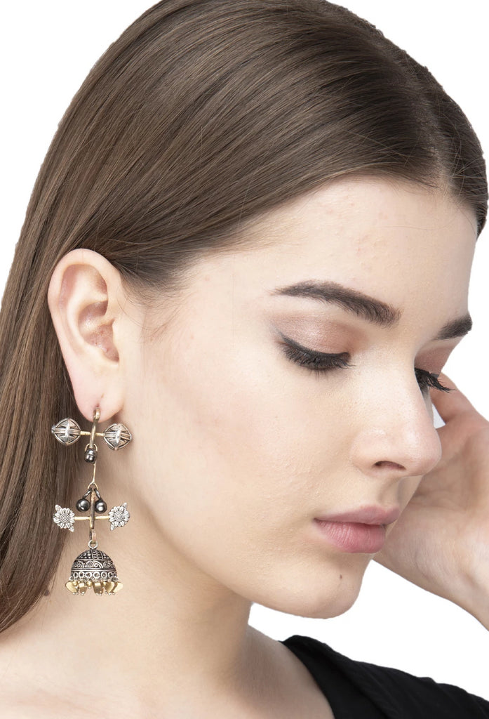 Falling Afghaning Jhumka Earring-ANETRA1-Earring