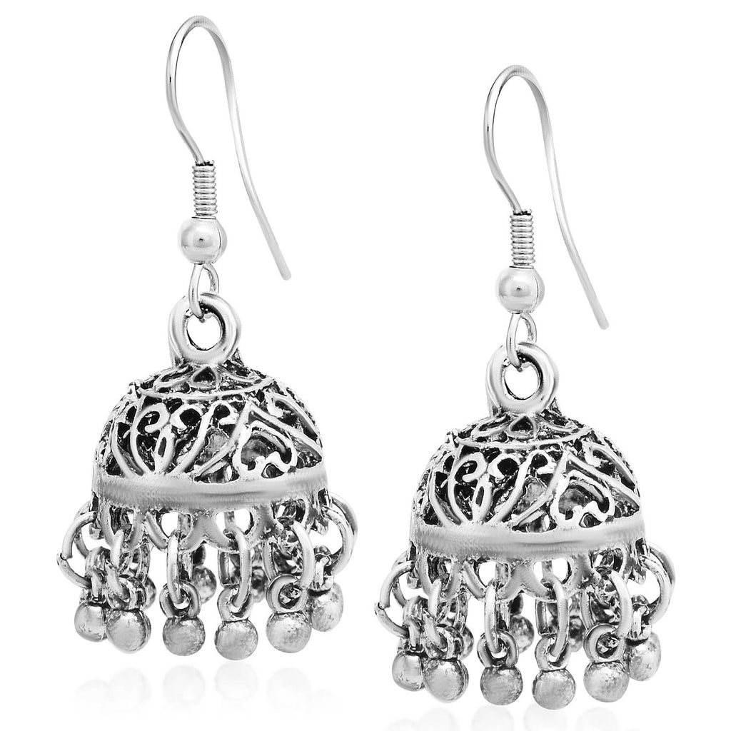 Sukkhi Fancy Oxidised Jhumki Earring For Women-SUKKHI1-Earring