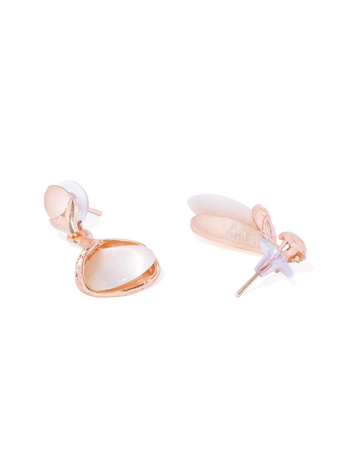 Combo Of 3 Zaveri Pearls Rose Gold Fashion Forward Earrings